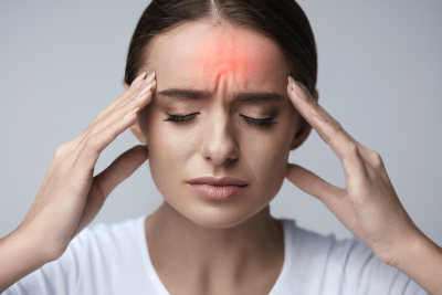 woman suffering migraine